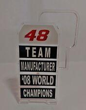 1:12 Pit board - pitboards Jorge Lorenzo World Champion Team 2008 to minichamps