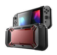 Mumba Case Nintendo Switch Heavy Duty Slim Rubberized Snap on Hard Cover Red