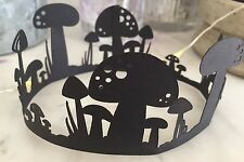 Die Cut Shapes Fairy Ring Toadstools (black, x6).Ideal For Cards/ fairy Jars
