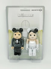 MEDICOM TOY PLUS 100% GREETING Marriage Wedding BE@RBRICK SET Couple 1pair
