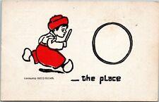 Dutch boy hoop rolling Series 3700 Popular Comics 1907 D Millson postcard