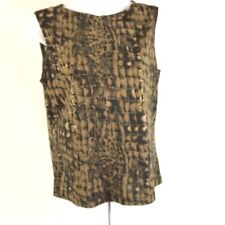 Gallery Limited  Womens Sleeveless Blouse Top Size Medium Animal Print