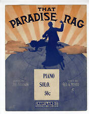 RAG RAGTIME Sheet Music 1911 George Meyer That Paradise Rag
