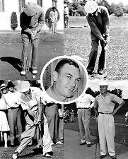 Ben Hogan UNIQUE swing/putt sequence collage print #2