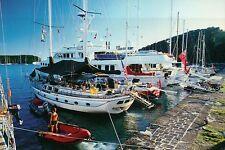 Luxury Yachts at Nelson's Dockyard, English Harbour, Antigua --- Ship Postcard
