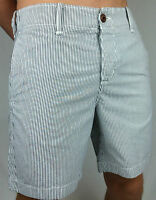 HOLLISTER. Men's Blue & White Stripe Walk Shorts. 100% Cotton. 28, 30, 31 & 32.