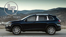 Jeep Cherokee Stainless Steel Chrome Pillar Posts by Luxury Trims 2014-2018 6pcs
