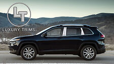 Jeep Cherokee Stainless Steel Chrome Pillar Posts by Luxury Trims 2014-2015 6pcs