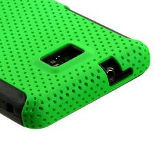 Straight Talk Samsung Galaxy II 2 S959G MESH Hybrid Rubber Skin Case Cover Green