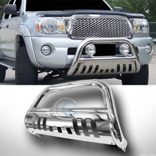 CHROME BULL BAR BRUSH PUSH BUMPER GRILL GRILLE GUARD FOR 05-18 NISSAN FRONTIER