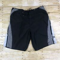 ONEILL Board Shorts Swim Surf Trunks Mens 36 Black Gray Beach