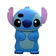 iPhone 4 5 6 7/8 XR XS Coque Housse Etui en Silicone - Lilo & Stitch - Rose/bleu