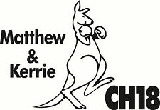 Personalised UHF Boxing Kangaroo Channel Caravan, Motorhome, Small Sticker Decal