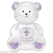 BABY'S BATTESIMO TEDDY SUPERSHAPE Foil Balloon