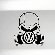VW PISTON GASKMASK CAR BUMPER SHOW STICKER FUNNY DRIFT JDM DECAL VINYL VAN