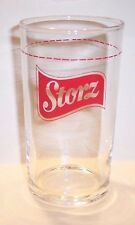 """RARE VINTAGE 4 1/4 """"  INCH STORZ  BEER GLASS ADVERTISING"""