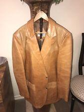 VTG Remy Tan Leather Lambskin Jacket Men's
