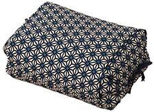 NEW EMOOR Soba Buckwheat Pillow Height adjustable Hemp Leaf  Blue Made in Japan