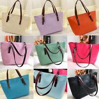 Ladies Designer Leather Style Celebrity Tote Shoulder Shopper Handbag Large Bag