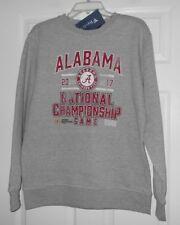 Fanatics 2017 National Alabama Crimson Tide sweatshirts Heather Grey Large NWT