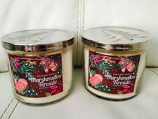 Lot 2 Bath & Body Works Marshmallow Fireside    14.5 OZ 3 Wick Candle