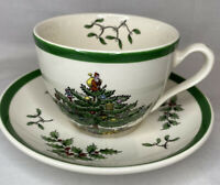 Spode Christmas Tree Tea Cup and Saucer Made in England