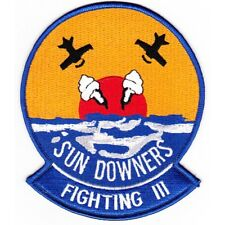 USN NAVY VF-111 SUN DOWNERS CRUISE JACKET PATCH FIGHTER SQUADRON VETERAN