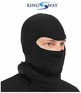 Balaclava/Full Face Mask for Boys & Girls Size : L, Color : Black, Cotton Fabric
