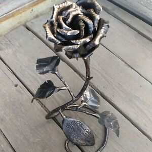 Forged Iron rose Hand made
