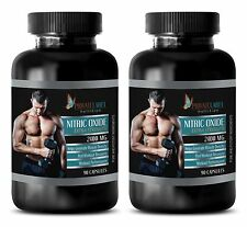 Muscle Growth Capsules - NITRIC OXIDE 2400mg - Accelerated Fast Twitch Muscle 2B