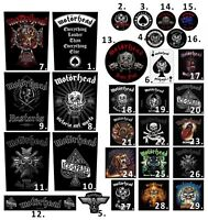 Motorhead Patch Embroidered Patches Iron Maiden Metallica Pantera AC/DC Official