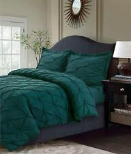 Idea Nuova Republic Pleated 3-PC FULL Duvet & Shams Set Peacock Green C935