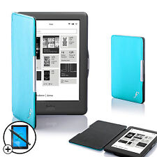 BLU SMART CUSTODIA COVER A CONCHIGLIA Kobo Touch 2.0 CON PROT & STILO