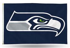 "Seattle Seahawks NFL Banner Flag 3' x 5' (36"" x 60"") ~ NEW"