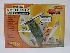 NEW 6 Port USB 2.0 PCI Card (2 External, 1 Internal, 3 Internal USB header)