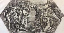 Nicolas CHAPRON  ou CHAPERON 1612-1653 d'après RAPHAEL Jésus Baptême Jean XVIII