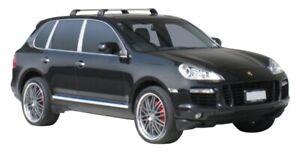 Whispbar Black 2 Bar Roof Rack for Porsche Cayenne 5dr SUV 02-10 (S4WB & K450)