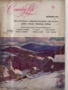 1941 Country Life - December - Hinchingham MD; Absaroka Range Montana; Plymouth