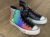 Converse Chuck Taylor 70 Hi Top Pride LGBTQ Rainbow Glitter Shoes 165713C Size 5