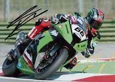 Tom Sykes Hand Signed 2012 Kawasaki 7x5 Photo WSBK 5.