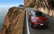 """RED JEEP GRAND CHEROKEE SRT8 A2 CANVAS PRINT POSTER FRAMED 23.4""""x15.4"""""""