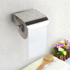 Bathroom Toilet Paper Holder with Mobile Phone Storage Shelf Wall Mounted Rack