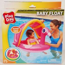 NIP Play Day pink flamingo baby float inflatable pool toy/raft, ages 1-2 years