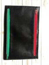 Conti Leather Currency Holder Black 4 Pockets Vintage
