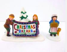 Dept 56 New England Village - Christmas Bazaar - Set 2 Sign 56598 Brand New