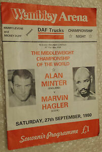 1980 Boxing Programme - Alan Minter v Marvin Hagler at Wembley