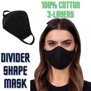 Face Mask Protective Cover Washable Reusable Premium Quality Cotton Black lot