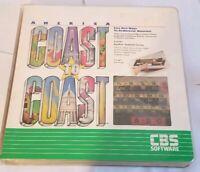 America Coast to Coast / Apple II Home Computer Software keyboard overlay