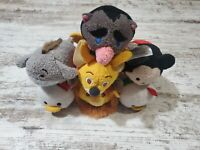 Disney Tsum Tsum Plush Lot Of 6 Mickey Mouse, Eeyore, Lion King, Christmas Duck