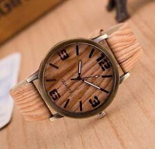 UK SELLER! New Stylish Wooden Look Watch Men's Women's Unisex Wood Wristwatch